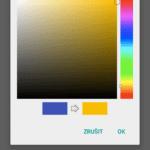 Nastavení barvy aplikace