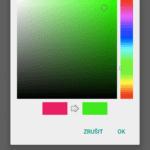 Nastavení barvy tlačítka