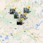 Mapa s místy, kde byly pořízeny fotky