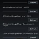 Stahování aplikačních dat a mapových podkladů