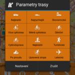 Parametry trasy