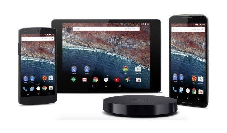 Android M je k dispozici pro telefony Nexus 5 a Nexus 6, jakož i tablety Nexus 9 a přehrávače Nexus Player