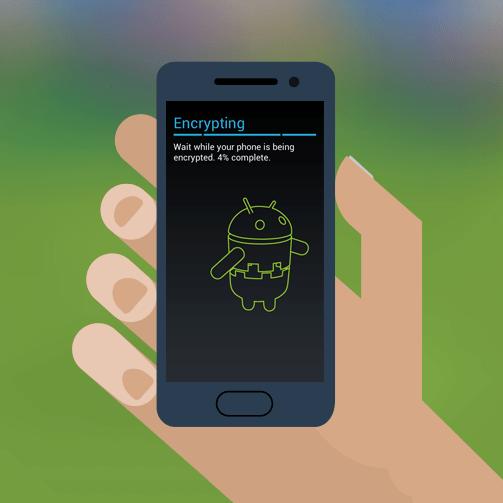 Pokud je úložiště telefonu zašifrované, budou veškerá získaná data nečitelná