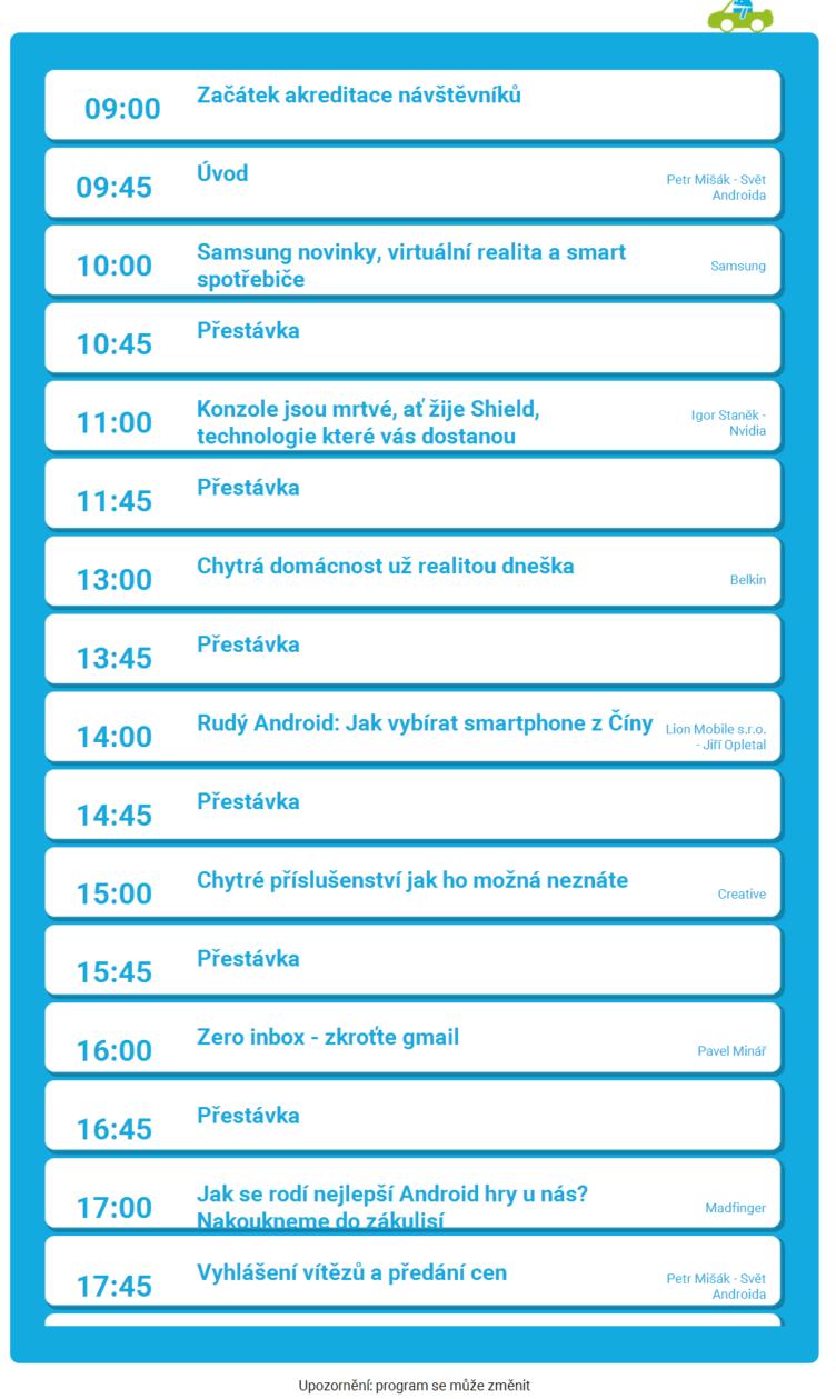 Program - Android RoadShow 2015 - dotkni se Androida ve svém městě Android RoadShow 2015 – dotkni se Androida ve svém městě_20150616222342