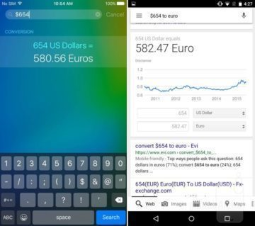 iOS 9 vs Android Siri