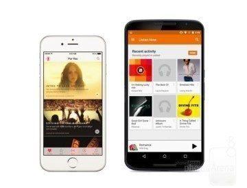 iOS 9 vs Android hudba