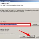 Zapamatujte si, kam SDK Tools instalujete!
