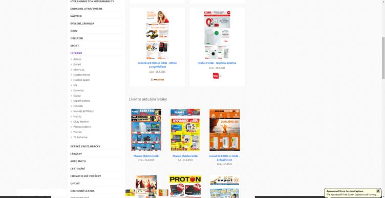 Letáky obchodů a řetězců s jiným zaměřením najdete na webu