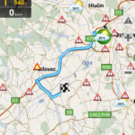 Navigace přes uzavřenou ulici Mariánskohorskou v Ostravě