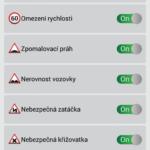 Upozornění na trase