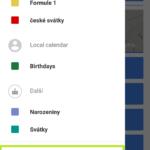 Nastavení kalendáře