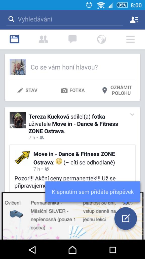 Facebook v nové verzi přichází s plovoucím tlačítkem ve stylu Material