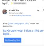 Pozvanému uživateli přijde e-mail