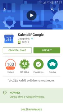 Google kalendář Google play