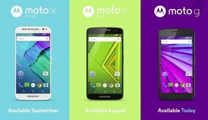 Moto X style Moto X Play Moto G