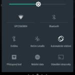 Sony Xperia Z3+ –  notifikační lišta