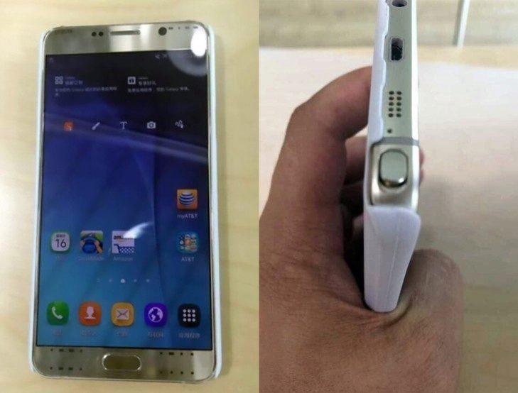 Jeden z úniků údajného Galaxy Note 5
