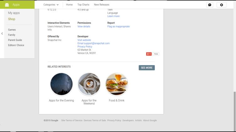 Google testuje v Obchodě Play nabídku podobné zájmy