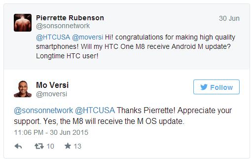 Potvrzeno: HTC One M8 dostane Android M