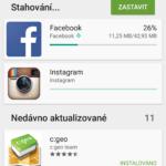 Aktualizace aplikací