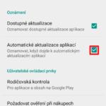 Automatické aktualizace aplikací