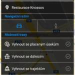 Nastavení parametrů trasy