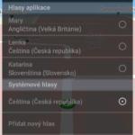 Volba hlasu pro hlasové pokyny