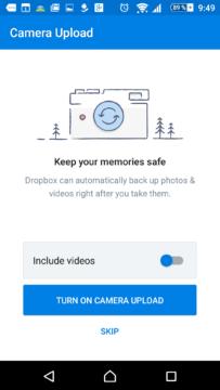 Dropbox nabízí automatickou zálohu fotek a videí
