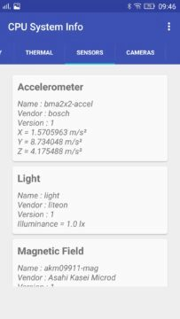 Aplikace CPU Hardware and System Info