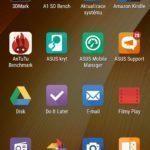 Asus Zenfone 2 – hlavní nabídka aplikací