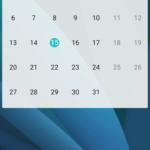 Huawei P8 Lite kalendář widget