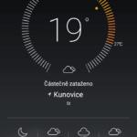 Huawei P8 Lite počasí