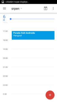 Kalendář widget 2