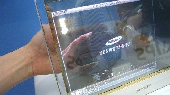 Starší řešení transparentního displeje od Samsungu