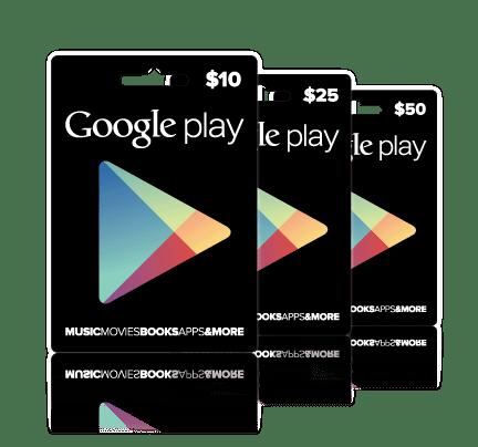 Dárkové karty Google
