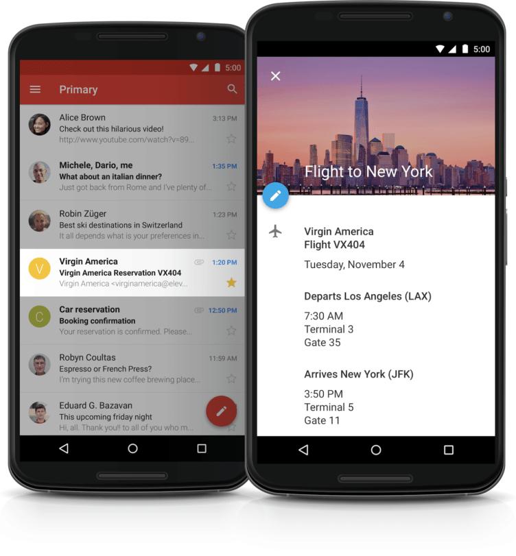 Gmail bude automaticky vytvářet události v Kalendáři Google