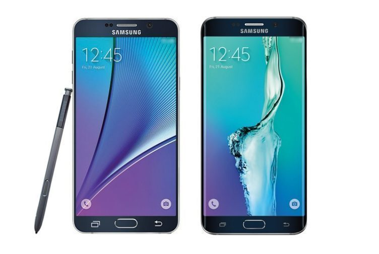 samsung galaxy note 5 vs S6 Edge+