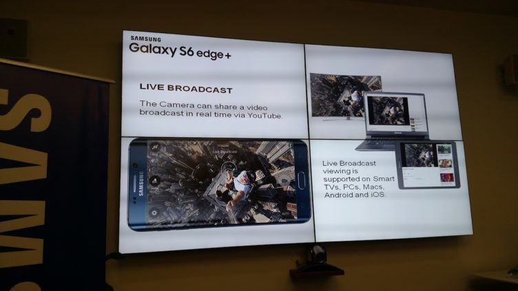 samsung galaxy s6 edge+ live broadcast