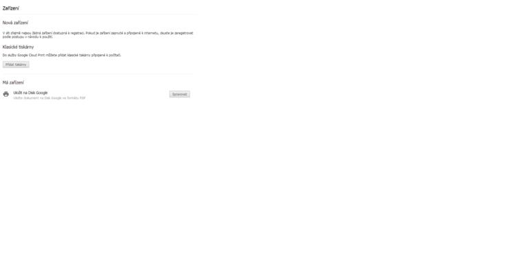 Seznam zařízení zaregistrovaných do služby