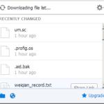 Probíhající synchronizace souborů