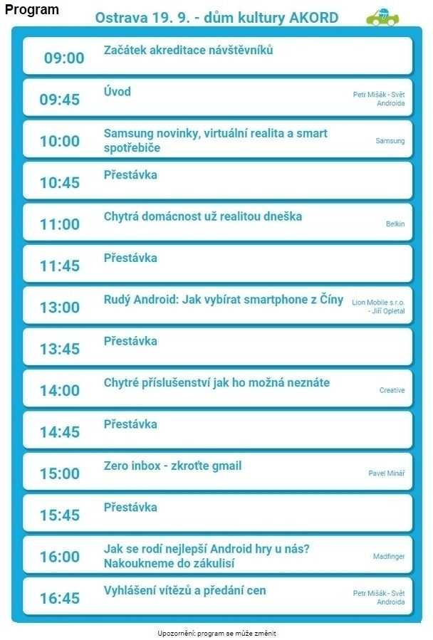 AARS15-Ostrava-program
