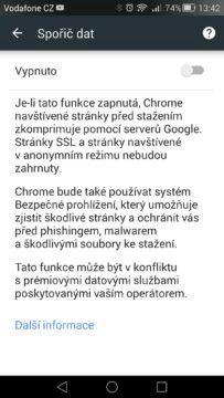 Android pro začátečníky 11 - chrome spořič dat