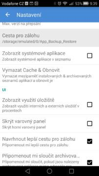 Android pro začátečníky –  app backup (3)