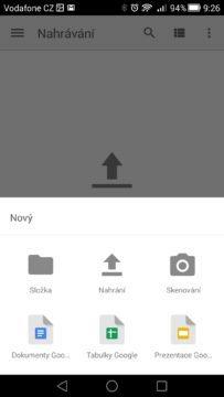 Android pro začátečníky –  google drive (3)