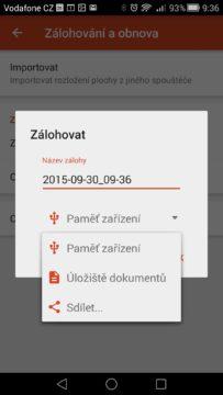 Android pro začátečníky –  záloha aplikace Nova Launcher (2)