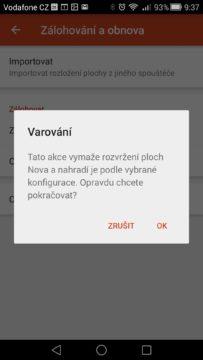 Android pro začátečníky –  záloha aplikace Nova Launcher (3)