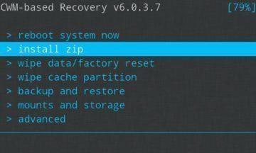 Hledejte volbu Wipe data Factory reset recovery
