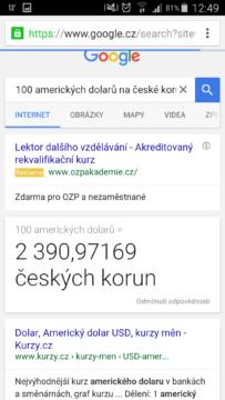 Dolary výsledek