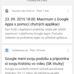Chytré karty Google po redesignu