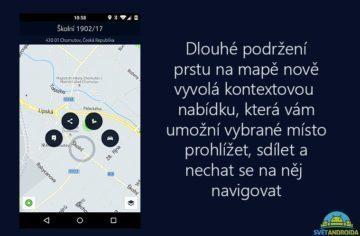 HERE Maps - kontextové menu